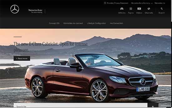 Mercedes Benz bruger også WordPress