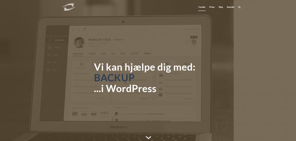 WordPress Backup Sikkerhed OKEI