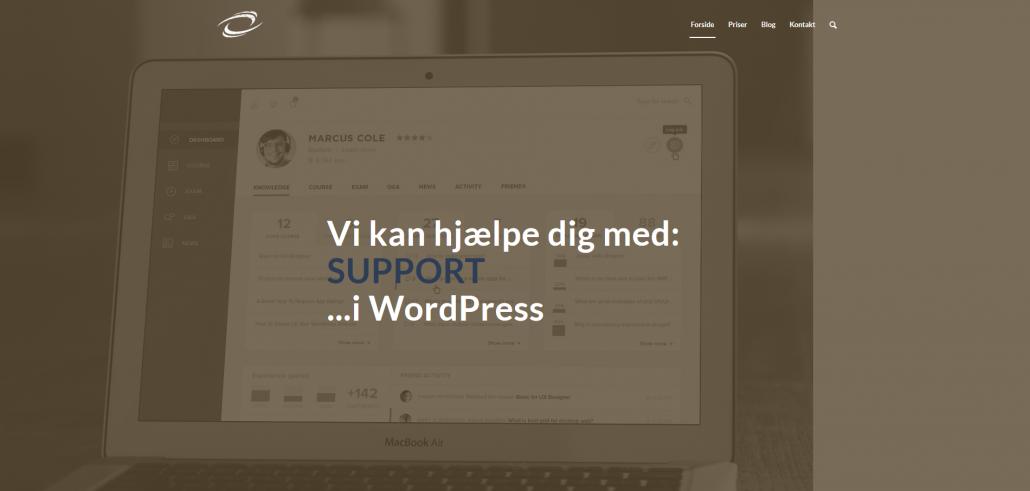 WordPress Support. Få hjælp til dit website og din webshop af OKEI