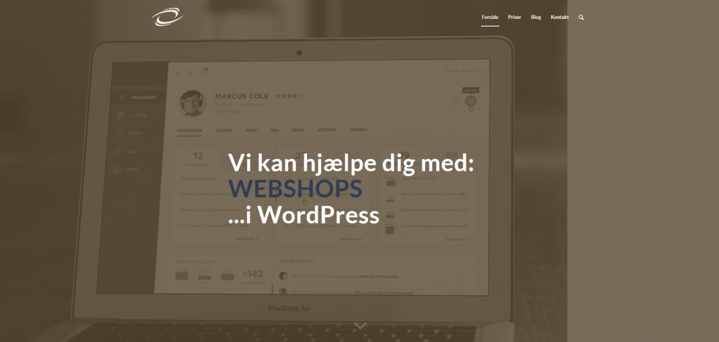 WordPress Webshop WooCommerce E-handel OKEI