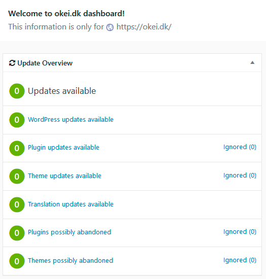 WordPress opdateringsservice, backup og support - OKEI Webbureau